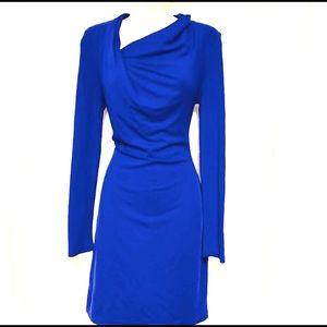 Walter Baker cobalt blue long sleeve stretch dress